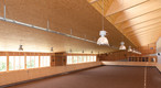 This riding arena was built using SWISS KRONO OSB/F**** 15mm thick for the roof and 18mm thick for the walls.