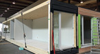 Prefabrication of modules using up to 18-metre-long SWISS KRONO <b>LONG</b>BOARD OSB for jointless walls and ceilings
