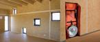 Blower-Door-Test: SWISS KRONO OSB ist luftdicht. Neben guten Dämmeigenschaften zählt dies zu den wichtigen Kriterien für modernes, energiesparendes Bauen.