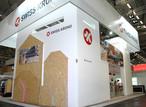 Von allen Seiten thematisiert der SWISS KRONO-Stand den vielseitigen Holzwerkstoff OSB