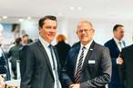 Vertrieb: Christian Polozcek, Key Account Manager OSB Export, und Marcus Josefsson, Vertrieb OB und MDF in Skandinavien