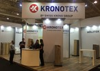 Just before the rush began: the KRONOTEX stand was ready to receive trade visitors
