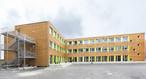 An interim school erected in Nuremberg with modular construction techniques