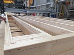 Production of individual massive timber modules
