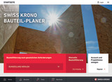 Screenshot of the homepage of the web application SWISS KRONO TIMBER PLANNER