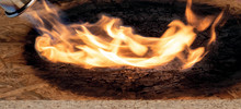 SWISS KRONO OSB/3 SF-B EN300 chars to form a fire-inhibiting layer