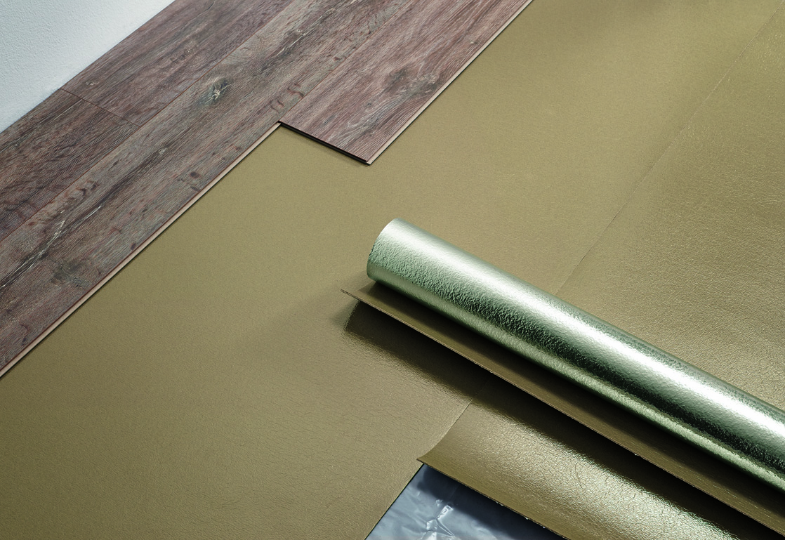 Unterlays For Laminate Flooring Made Of Natural Wood Fibre Or Based On Pe Pu