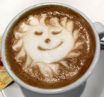 Zauberhafte Kaffee-Kreation des Baristas am SWISS KRONO Stand