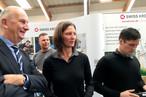 Brandenburgs Ministerpräsident Dietmar Woidke bei SWISS KRONO