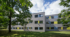 Modern modular timber construction makes it possible: a temporary office building in Münster for Deutsche Rentenversicherung, the organisation responsible for retirement pensions in Germany