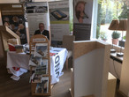 Standaufnahme mit Herrn Keilhofer, neuer SWISS KRONO MAGNUMBOARD® OSB Lizenzpartner