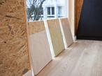 Beschichtete SWISS KRONO OSB-Exponate im Pavillon