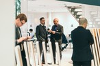 In conversation: SWISS KRONO employees and trade fair visitors